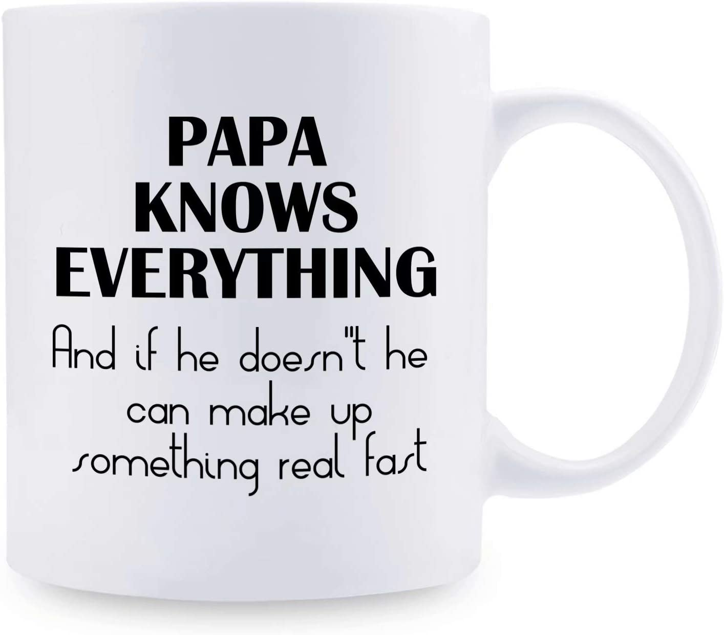 Papa Knows Everything Funny Coffee Tea Ceramic Mug Office Work Cup Gift