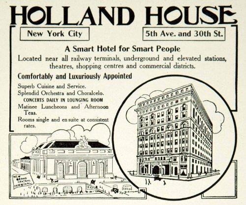 1912 Ad Holland House Hotel 5th Avenue 30th Street NYC Historic Landmark Tourism - Original Print - Nyc 30 Ave 5th