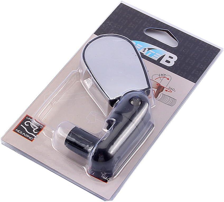 VGEBY1 Espejos de Bicicleta Negro Mini Manillar Espejo de Bicicleta Espejo de Bicicleta Ajuste Trasero de 360 Grados Espejo retrovisor Seguro