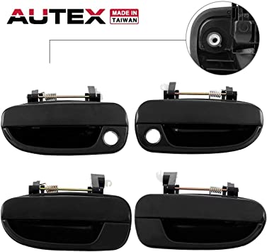 fits Hyundai Outside Outer Exterior Door Handle Right Passenger Rear Black