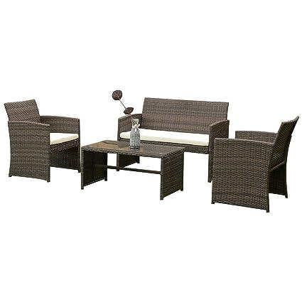 Amazon.com: 9rit_shop - Juego de muebles de mimbre para ...