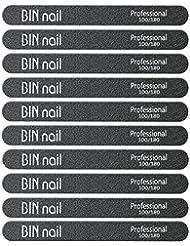 BINNAIL Nail Files Emery Board Double Sided 100 180...