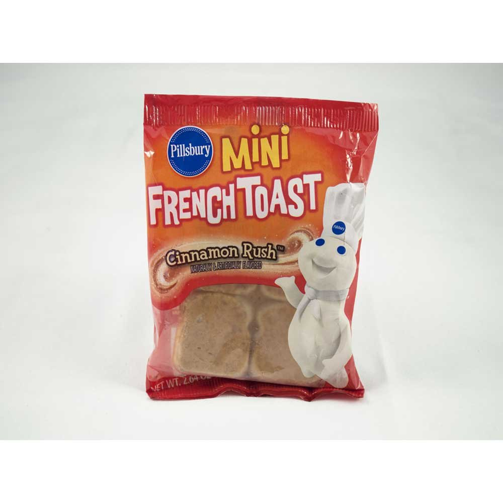 Pillsbury Cinnamon Rush Mini French Toast, 2.64 Ounce -- 72 per case.