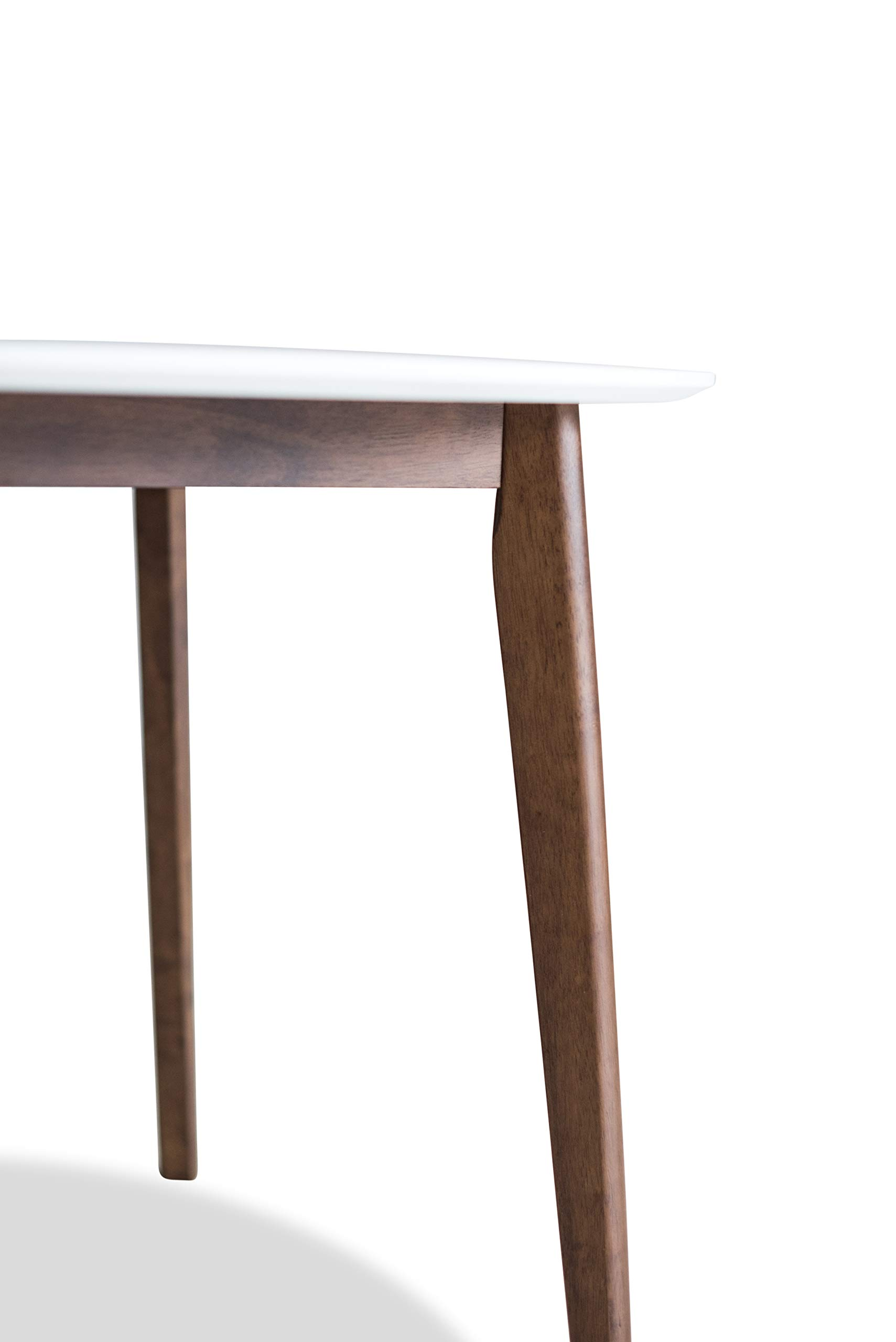 Edloe Finch Dakota Mid-Century Modern 5 Piece Round Dining Table Set for 4, White Top by Edloe Finch (Image #12)