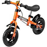 Enkeeo No Pedal Balance Bike Cycling Walking Bicycle with Bell and Hand Brake for Ages 2 to 5 Years Old, Adjustable Handlebar and Seat, 110lbs Capacity (10/12 Inch)