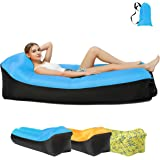 Hiser Inflatable Air Lounger Portable Air Sofa with Integrated Pillow Super Comfortable Air Couch Bed Chair for Pool Beach Travel Camping Picnic Park Garden Indoor and Outdoor Party