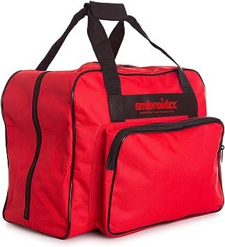 Funda de transporte para máquina de coser roja de la marca Bordedix - Bolsa de transporte universal: Amazon.es: Juguetes y juegos