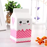 BRIDA® Slow Rising Squishy Toys Fidget Toys Cute Squishies Squeeze Stress Reliever for Girls / Kids / Adults (White Milk Carton)