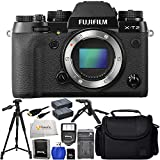 Fujifilm X-T2 (Body Only) - International Version (No Warranty) + 32GB SD Memory Card + 72 Tripod + Pistol Grip Tripod + 2 Extended Life Replacement Battery (NP-W126) + Medium Carrying Case & More!