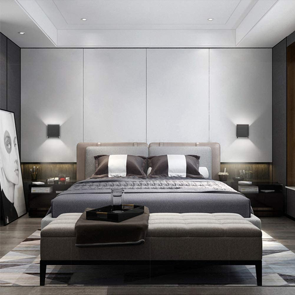 Nior Lampe Murale LED Blanc Chaud 3000K Moderne Applique Murale pour Chambre Maison Couloir Salon Klighten 2 9W Appliques Murales Interieur//Exterieur G9 LED ampoule Inclure