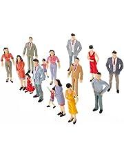 Baoblaze 25pcs 1:25 G O Scale Miniature People Model Figurines for Model Train Diorama Scenery DIY Accessories, Assorted