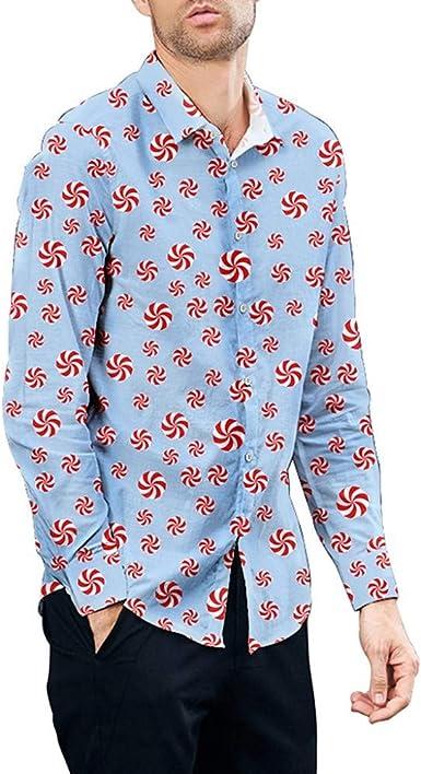 Camisa Estampada Pareja Camisa de Manga Larga para Hombre y Mujer Casual Suelto Shirt Slim fit Superior cómodo Camisas Hombres Impreso Top: Amazon.es: Ropa y accesorios