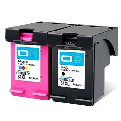hotcolor 2pk 61 x L-BK 61 x L-C nueva generación para HP DeskJet ...