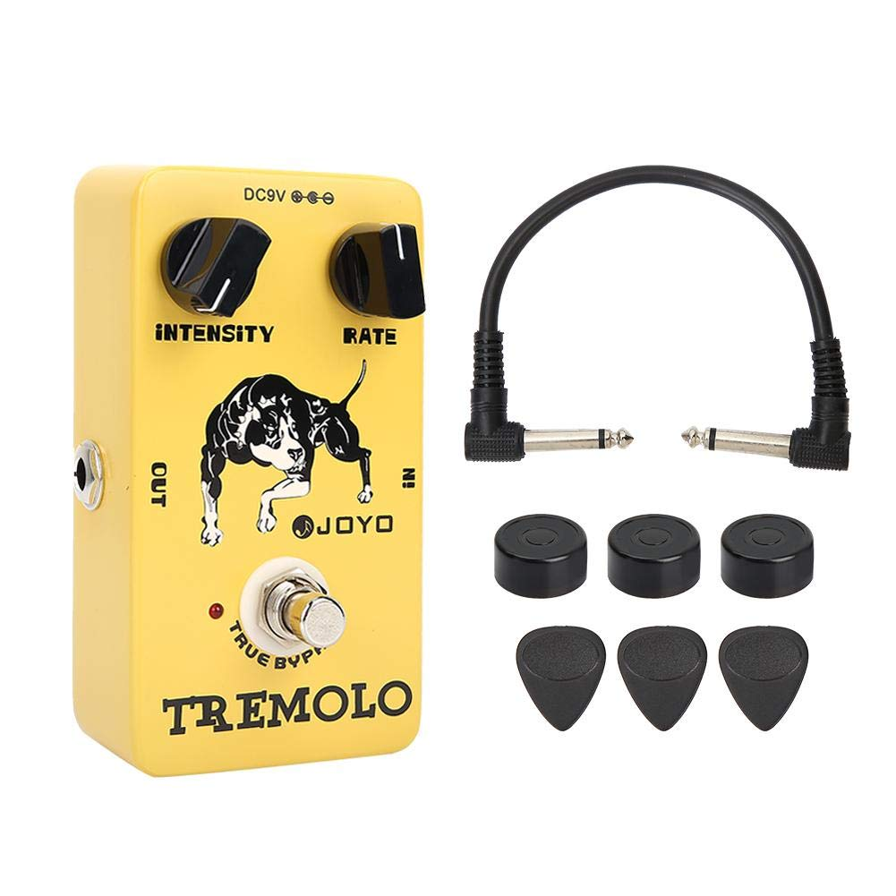 Guitar Effect Pedal, RiToEasysports JF-09 Trill Analog Delay Electric Guitar Vibrato Effect Pedal with True Bypass Built-in Fine-tuning