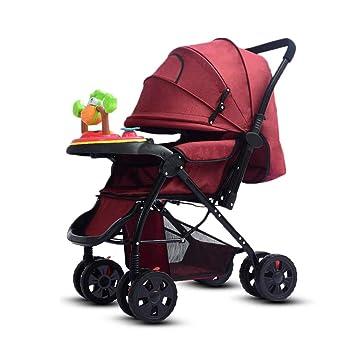 Cochecitos Bebé Trolley Bebé Bebé Puede Sentarse Plano Y Alto Paisaje Plegado Niños Luz De Verano Carrito Plegable Bebé para Niños (Color : Red): Amazon.es: ...