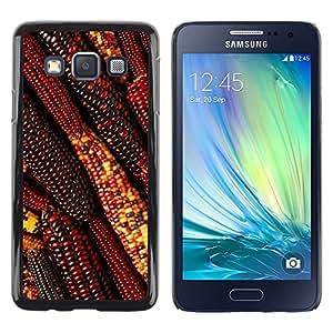 TopCaseStore / la caja del caucho duro de la cubierta de protección de la piel - Autumn Summer Farming Field Red - Samsung Galaxy A3 SM-A300