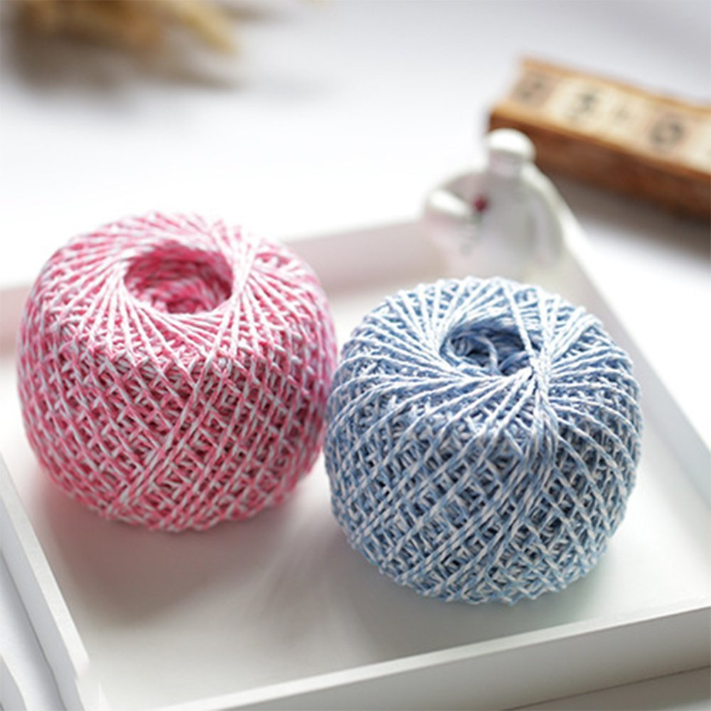 Weimay 100M Natural Jute Twine Rope Cord Ball for Gift Packing,Greeting Card Blue 1 Roll DIY Arts Crafts and Gardening Projects
