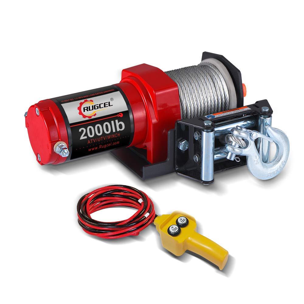 RUGCEL 2000-lb. ATV/UTV Electric Winch by RUGCEL WINCH