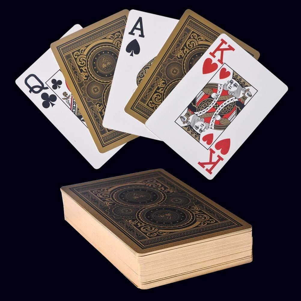 hochwertige Gambing Poker Teile Texas Holdem Banker PVC Poker wasserdichte YYBF Poker Karten Plastik Spielkarten Gold Poker