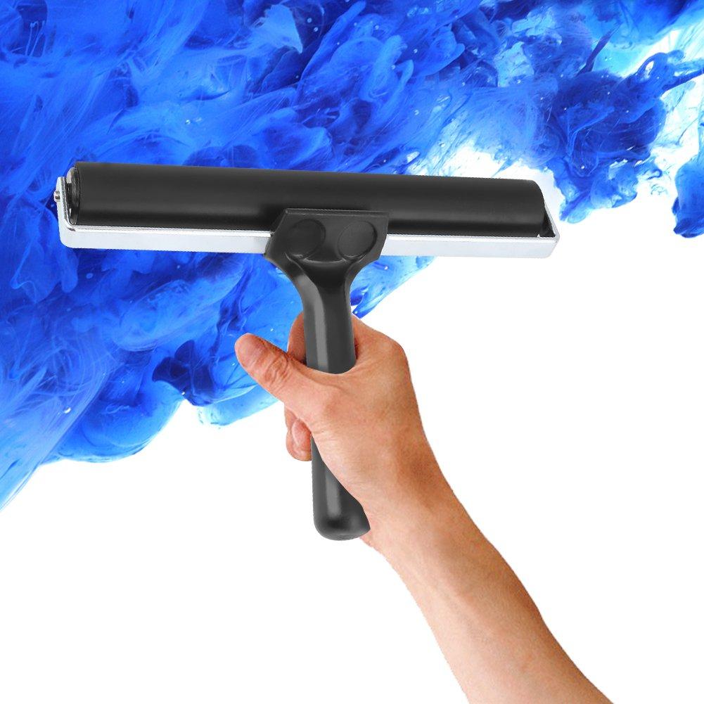 7.8 inch Soft Rubber Brayer,Rubber Brayer Roller Paint Brush Ink Applicator Art Craft Oil Painting Tool