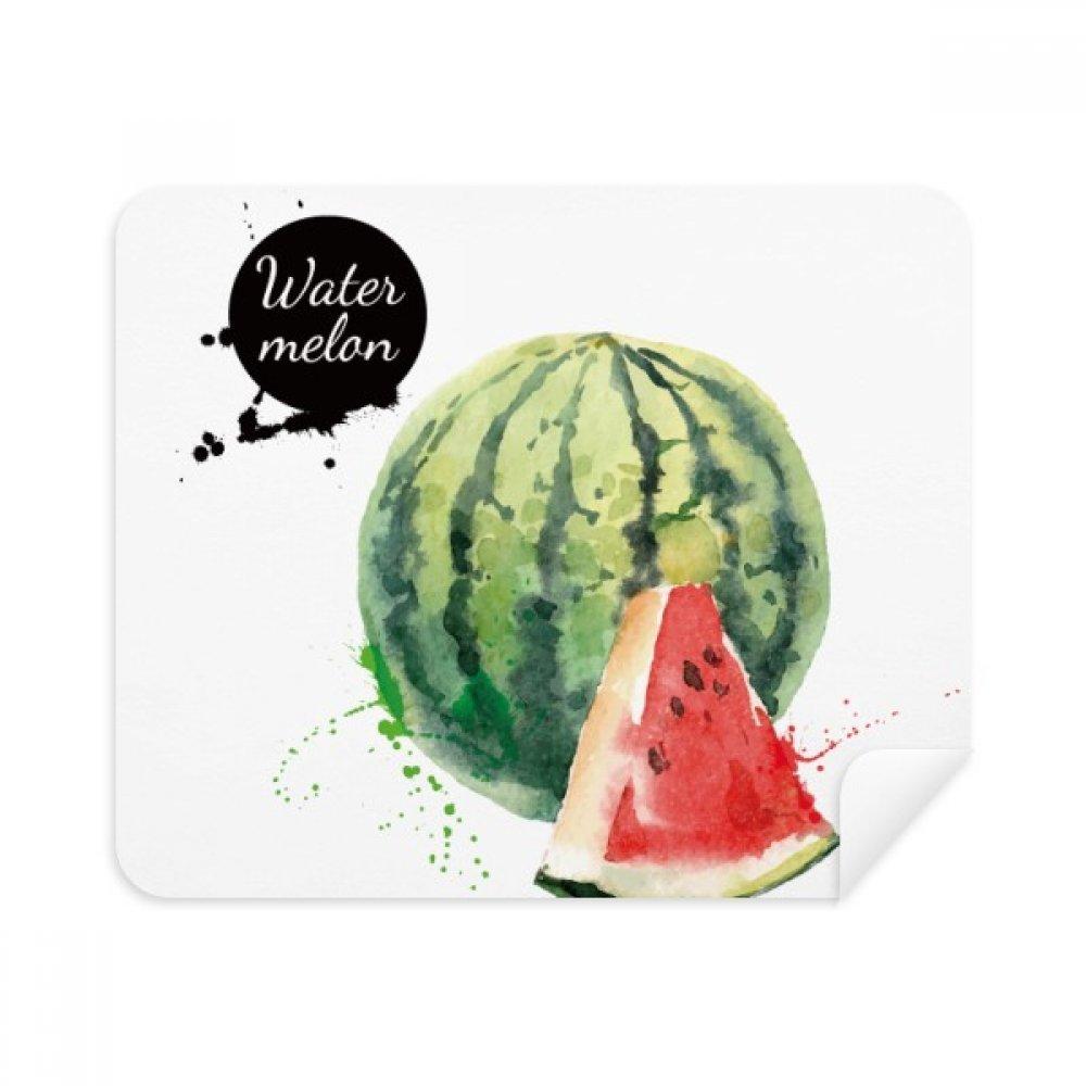 Watermelon Fruit Tasty Healthy水彩電話画面クリーナーメガネクリーニングクロス2pcsスエードファブリック   B07C92V5LN