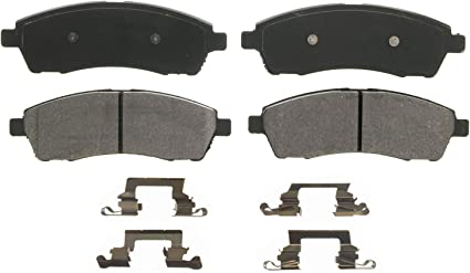 Front Wagner QuickStop ZX756 Semi-Met Disc Pad Set Includes Pad Installation Hardware