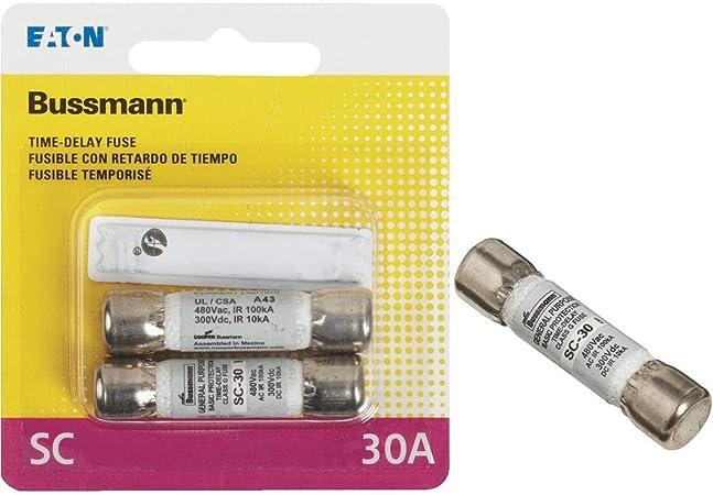1PCS Bussmann Edison EDCC30 Fuse 30 Amp 600V Slow Blow Class CC Time Delay Fus