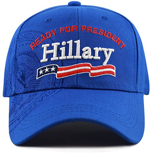 "The Hat Depot Hillary ""Ready For President"" President Seal Embroidered Cap"