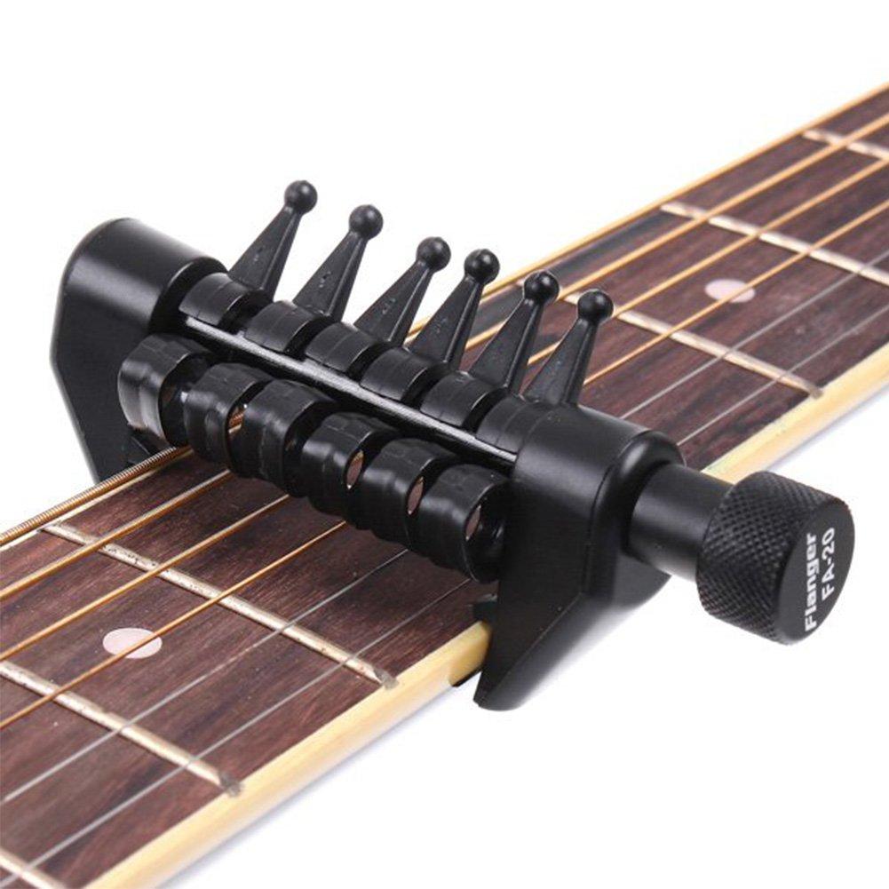 HLHome capotraste para guitarra. Capotraste para guitarra multifuncional: cambia los tonos de la guitarra. Dispositivo de accesorio para guitarra: ...
