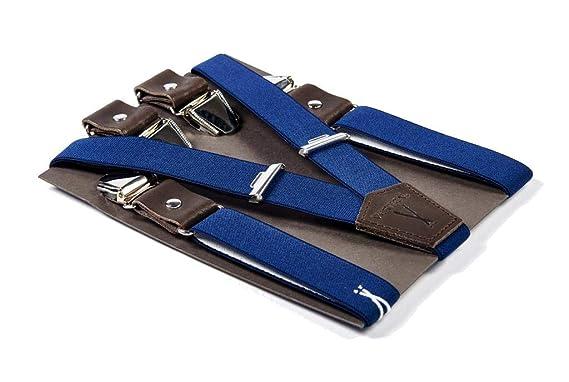 fd5b8713961 Bretelles mi-larges bleues VERTICAL L ACCESSOIRE pour homme et femme - Made  in