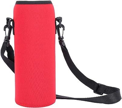 OhhGo Bolsa de botella de agua 1000ML Funda de botella de agua de neopreno aislada con correa para acampar Escalada Ciclismo