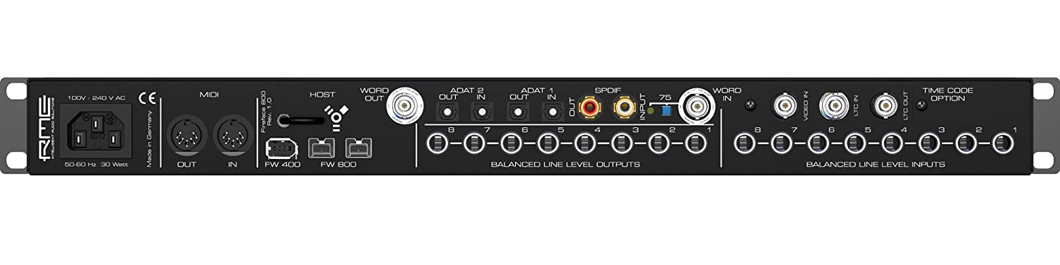 RME fireface 800Hi-Performance FW Interfaz de audio, 24Bit/192kHz, 56-channel: Amazon.es: Instrumentos musicales