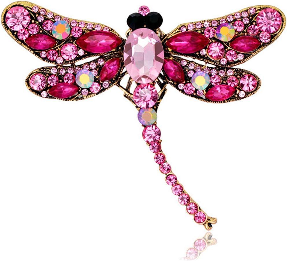 Mioloe Cristal Rhinestone Libellule Broche Bijoux Cadeaux danniversaire