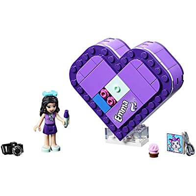 LEGO Friends Emma's Heart Box 41355 Building Kit (85 Pieces): Toys & Games