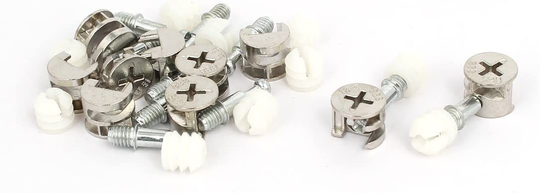 Furniture Cabinet Screw Fittings Connecting Bolts Eccentric Cam Wheel Nut 10 Set