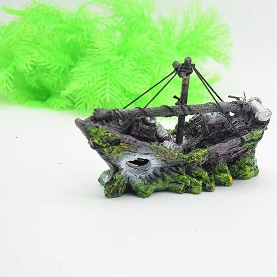 Depory - Decoración de Barco Pirata para Acuario, paisajismo, pecera de Cristal, decoración pequeña para Barco, 13 x 5 x 10 cm: Amazon.es: Productos para ...