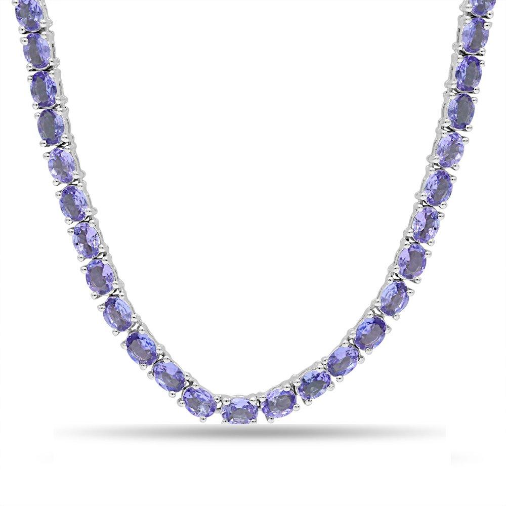 Fine Tanzanite Necklace in Sterling Silver