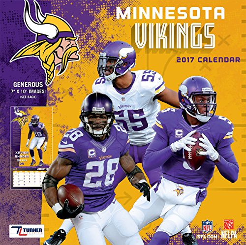 Turner Licensing Sport 2017 Minnesota Vikings Mini Wall Calendar (17998040568)