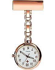 BestFire Nurse Lapel Pin Watch Clip-on Hanging Medical Pocket Watch Men Women Quartz Hanging Doctor Pocket Watches Nurses Watch