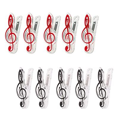 10 Piezas De Juego De Música Nota Clip Music Holder Página para Los Amantes De La Música: Juguetes y juegos