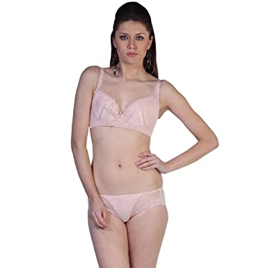 Alluring Embroidered Fascinating Baby Pink Bra with Matching Panty Set (C 2e599573e