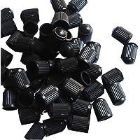 100 tampas de plástico para válvula de pneu de bicicleta (preto)