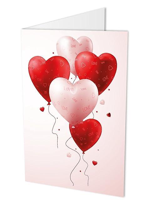 Al Matrimonio Auguri O Congratulazioni : Palloncini a cuore di carta formato a4 con busta in carta ideale