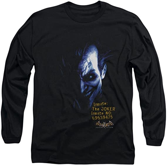 BATMAN HARLEY QUINN CARD GAMES  T-Shirt Longsleeve cotton officially licensed