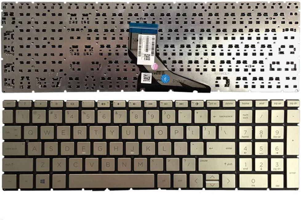 No Backlight Black Laptop Replacement Keyboard Fit HP Pavilion 15-DA0047NR 15-DA0048NR 15-DA0049NR 15-DA0061NR 15-DA0074NR 15-DA0012DX 15-DA0014DX US Layout