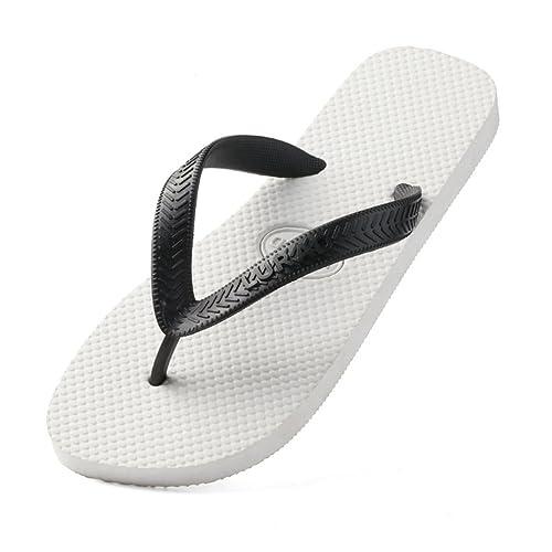 c4f575db007d T-JULY Men s Flip Flops Summer Beach Sandals Arch Support Light Weight  Slipper Shoes Non