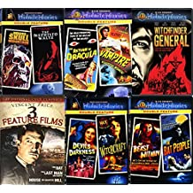 Vampires & Witchcraft Midnite 12 Movies Vincent Price DVD Set Witchfinder General / Last Man on Earth / The Return of Dracula / The Beast Within / Devils of Darkness / The Bat Classic Horror Films