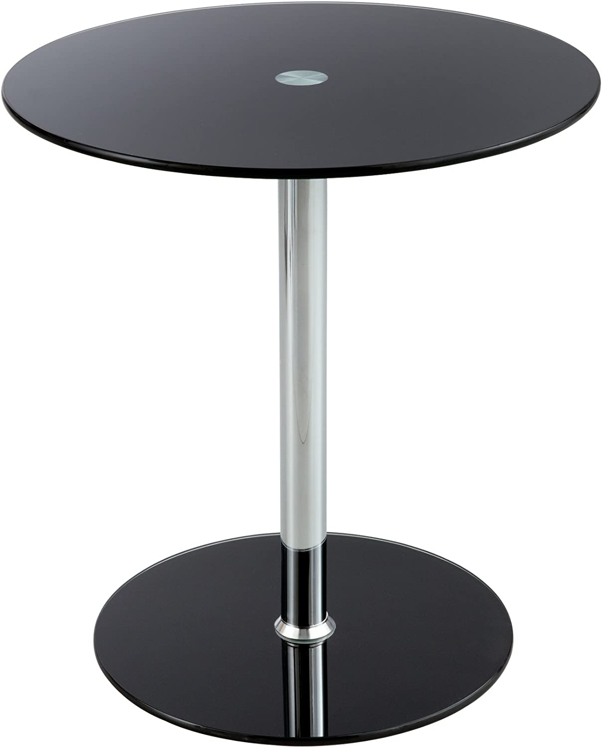 - Safco Products Products Glass Accent Table, Black (5095BL): Amazon