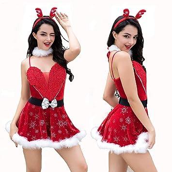 Amazon.com: HJG - Disfraz de Santa Claus para mujer, disfraz ...