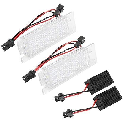 EBTOOLS 2PCS 18 LED Lámpara de luz de matrícula izquierda y ...